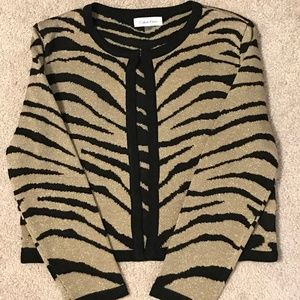 Calvin Klein Cropped Metallic Sweater